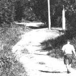 man walking in the road