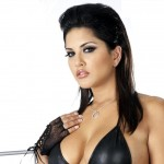 Sunny Leone looking hot in black