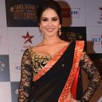 Black Saree Sunny Leone