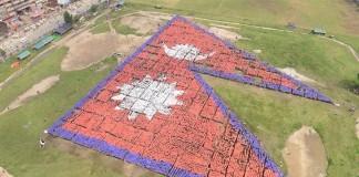 Largest Human Flag of Nepal World Record