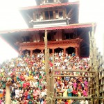 People during Indrajatra