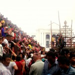 People waiting for kumari Rath IndraJatra