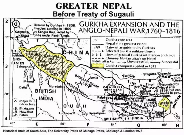 Greater Nepal map tistaa kangara